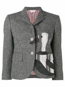 Thom Browne Frayed Duck Classic Sport Coat - Grey