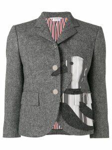Thom Browne Frayed Duck Classic Sport Coat - Grey