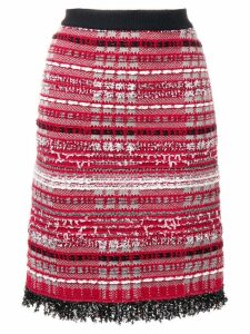 Thom Browne RWB Tweed Skirt - Red