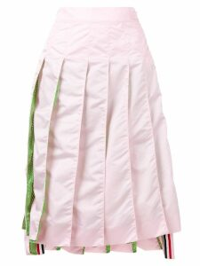 Thom Browne Pink Mesh Pleated Skirt