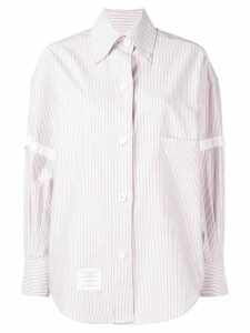 Thom Browne Supersized University Stripe Shirt - Red