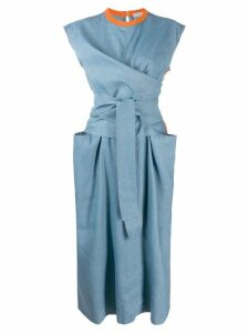 MRZ Abito Incrociato Intarsio dress - Blue