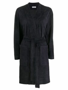 Desa 1972 belted single-breasted coat - Blue