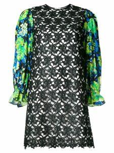 MSGM floral sleeve mini dress - Black