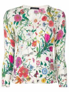 Samantha Sung Charlotte botanical print cardigan - White