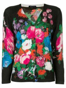 Samantha Sung Charlotte floral print cardigan - Black