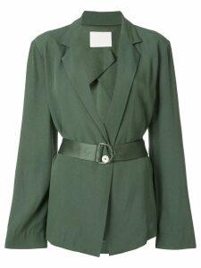 Dion Lee belted blazer - Green