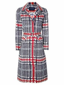 Samantha Sung Parisienne plaid hooded coat - Blue