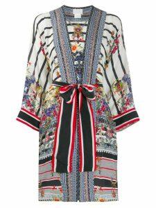 Camilla tie waist kimono - White