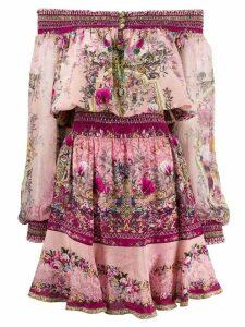 Camilla off shoulder printed dress - Pink