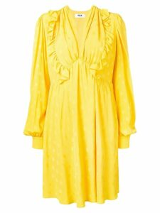 MSGM ruffle trimming dress - Yellow