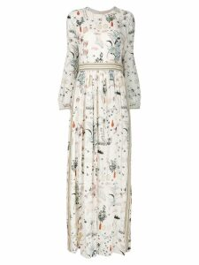 Tory Burch printed maxi dress - White