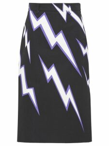 Prada lightning print skirt - Purple