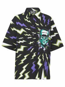 Prada lightning bolt print shirt - Green