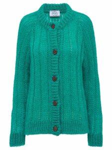 Prada chunky knit cardigan - Green