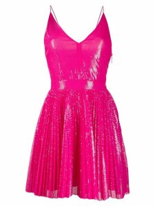 MSGM sequinned flared dress - Pink