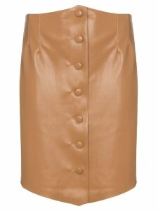 Nanushka Sils buttoned mini-skirt - Brown