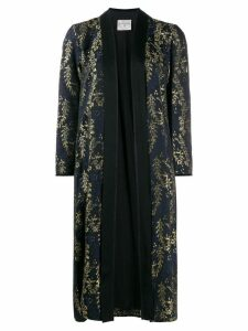 Forte Forte embroidered coat - Black