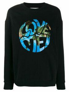 Alberta Ferretti Love Me sweatshirt - Black