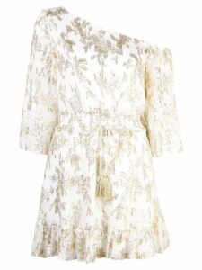 Rachel Zoe jacquard mini dress - White