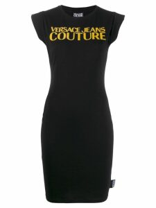 Versace Jeans logo print T-shirt dress - Black