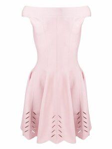 Alexander McQueen off shoulder pleated dress - Pink