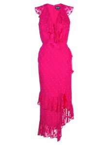 Saloni fitted polka dot dress - Pink