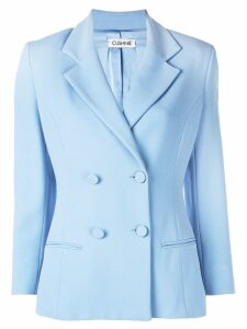 Cushnie double breasted blazer jacket - Blue