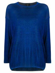Avant Toi boat neck pullover - Blue