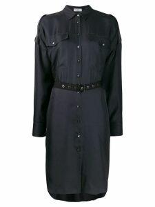 Brunello Cucinelli belted shirt dress - Blue