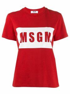 MSGM box logo T-shirt - Red