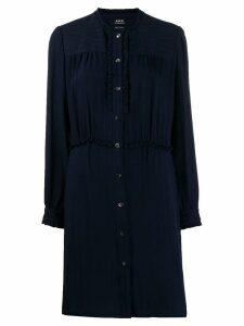 A.P.C. striped shirt dress - Blue