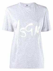 MSGM brushed logo T-shirt - Grey