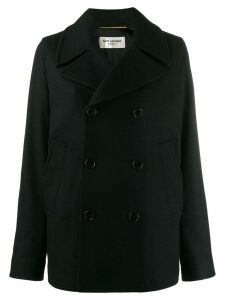 Saint Laurent double breasted pea coat - Black