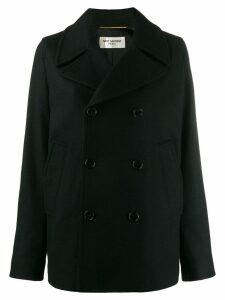 Saint Laurent double breasted pea coat - Black