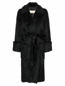 Alexandre Vauthier faux fur belted coat - Black