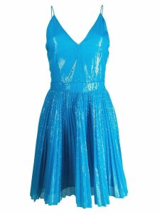 MSGM sequin pleated dress - Blue