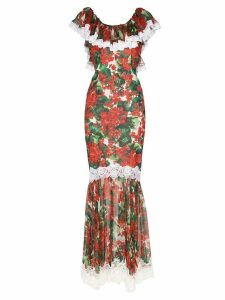Dolce & Gabbana Portofino-print fishtail gown - Red