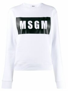 MSGM box logo sweatshirt - White