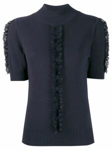 See By Chloé lace frill knitted top - Blue