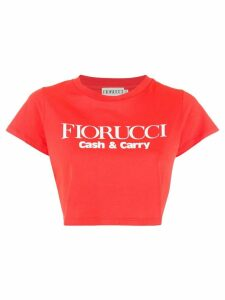 Fiorucci logo cropped T-Shirt - Red