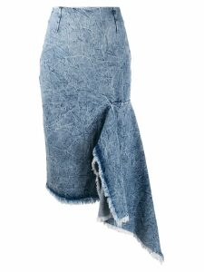 Balenciaga asymmetrical godet skirt - Blue