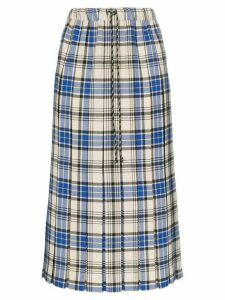 Shrimps Vesper check pleated skirt - Multicolour