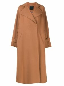 Sport Max Code oversized coat - Brown