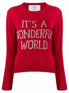 Alberta Ferretti It's A Wonderful World jumper - Red