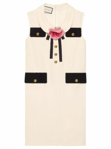 Gucci Tunic dress with brooch - White