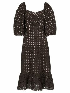 Johanna Ortiz Abacost Simplicity eyelet midi dress - Black