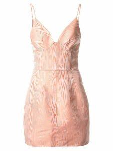 Manning Cartell plunge neck mini dress - Pink