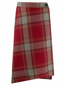 Vivienne Westwood check print skirt - Red