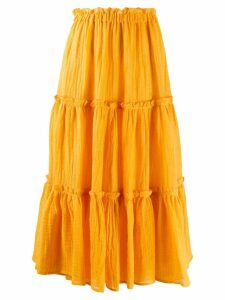 Lisa Marie Fernandez flared midi skirt - Yellow